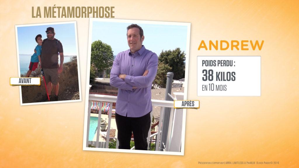 Andrew obese perte de poids avec Ariix et Slenderiiz
